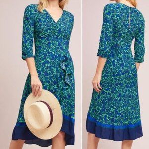 Anthro MAEVE Prunella Floral Dress Sz 14